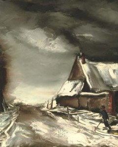 VLAMINCK Paysage d'hiver