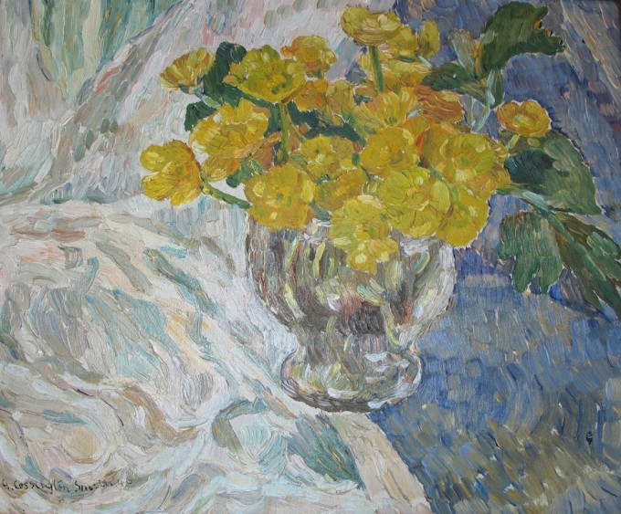 grace cossington smith painting of buttercups 1946